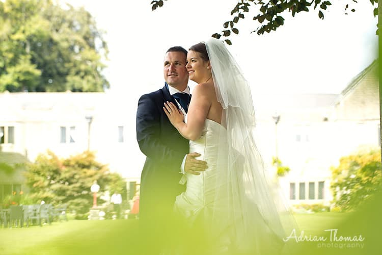 Image of Bride and Groom at Miskin Manor wedding
