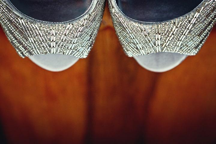 brides shoe closeup