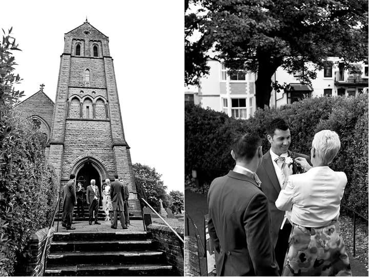 Ushers and groom