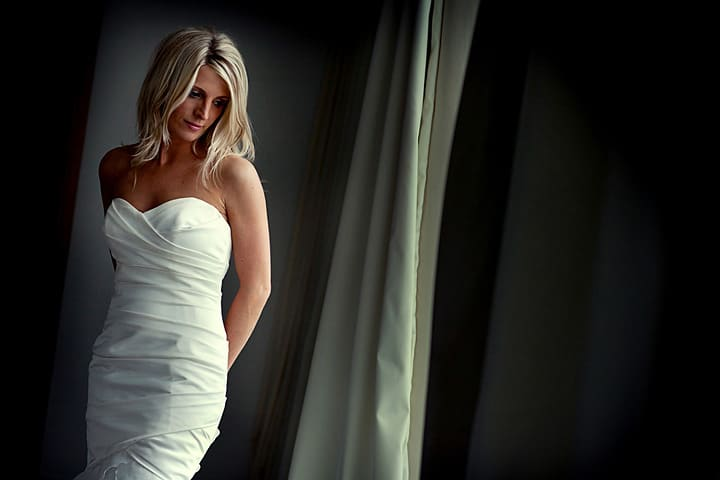 Photograph of bride at her wedding in St Davids Hotel Cardiff Bay