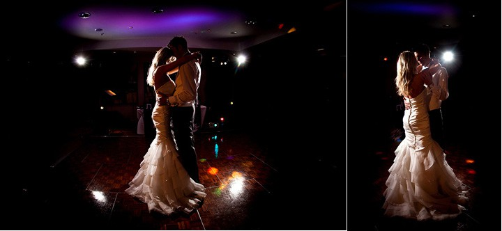 Wedding couples first dance