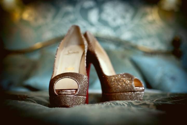 Golden brides shoes