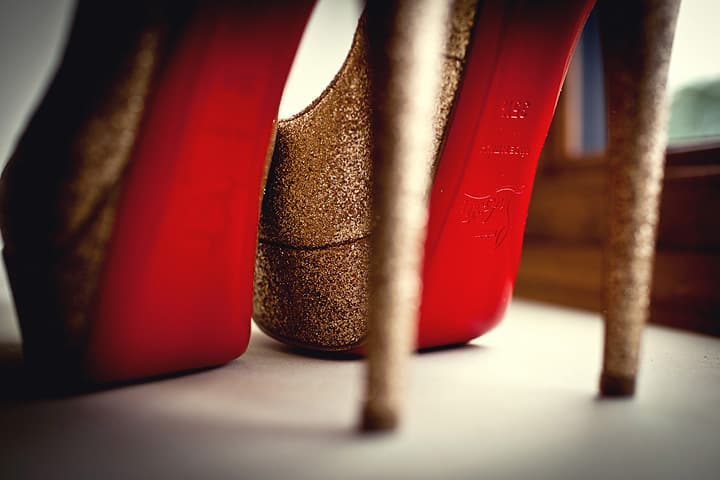 image of bride shoes
