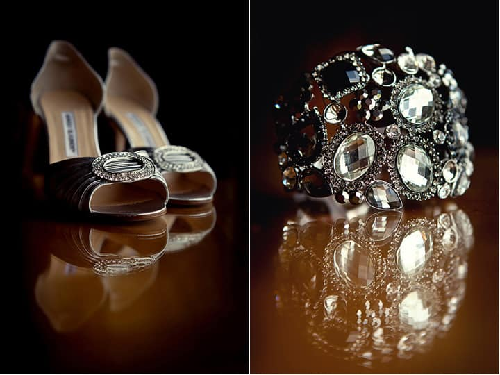 Photograph of brides details for wedding at Celtic Manor
