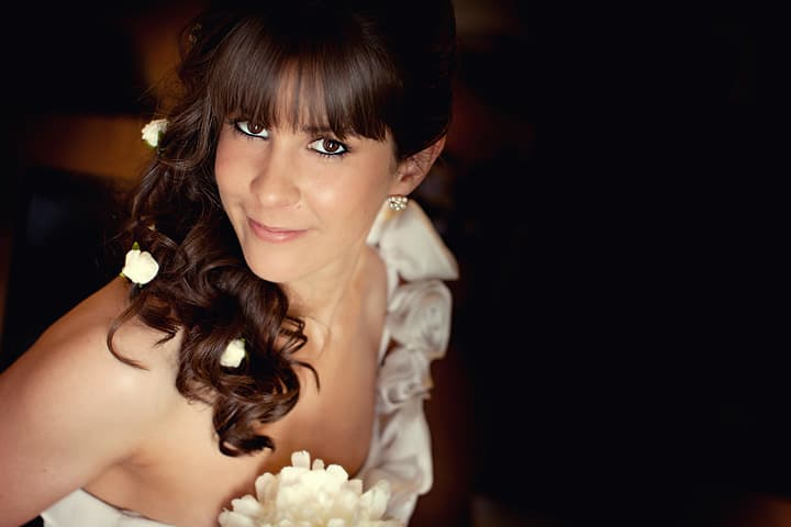 portrait of bridesmaid at wedding
