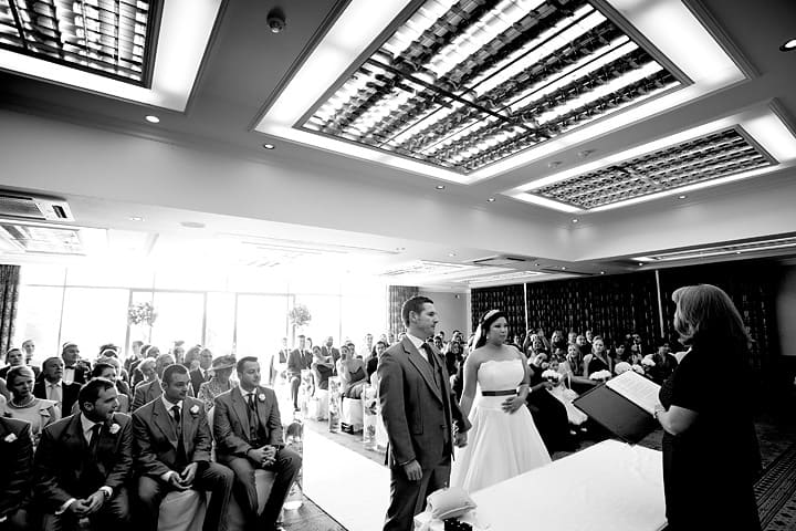 Wide photograph of ceremony room at Celtic Manor