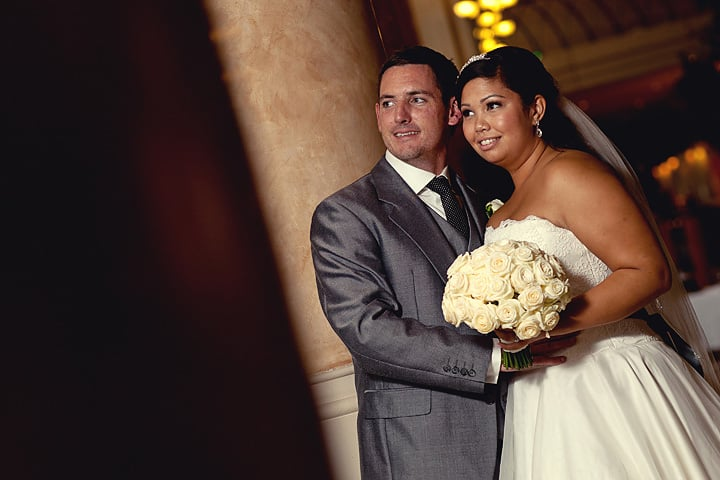 Bride and groom romantic photo at Celtic Manor