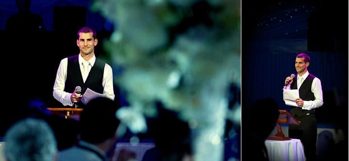 Groom speeches at he wedding