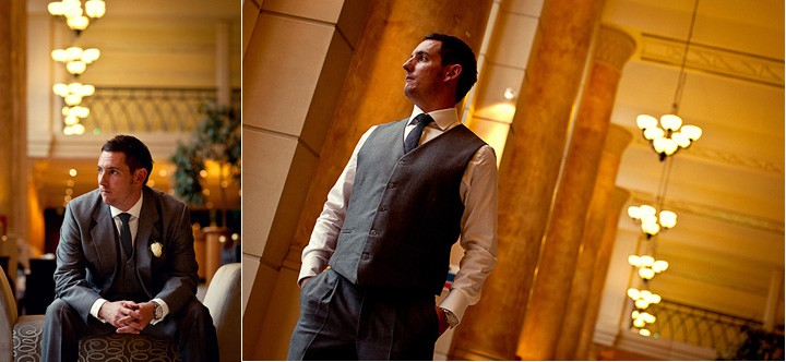Groom photograph at his wedding at Celtic Manor