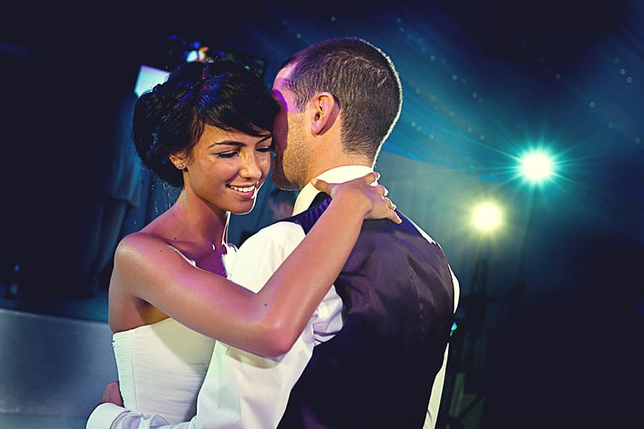 1st dance at wedding reception