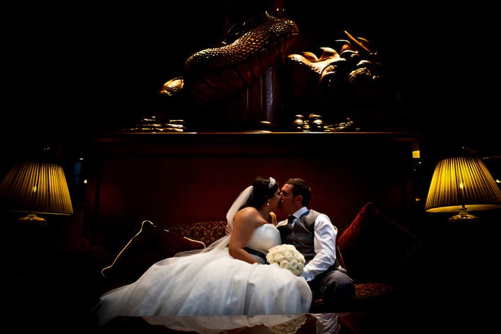 Image of married couple at Celtic Manor Hotel wedding