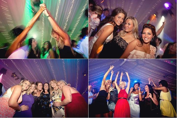 guests enjoying dancing at wedding