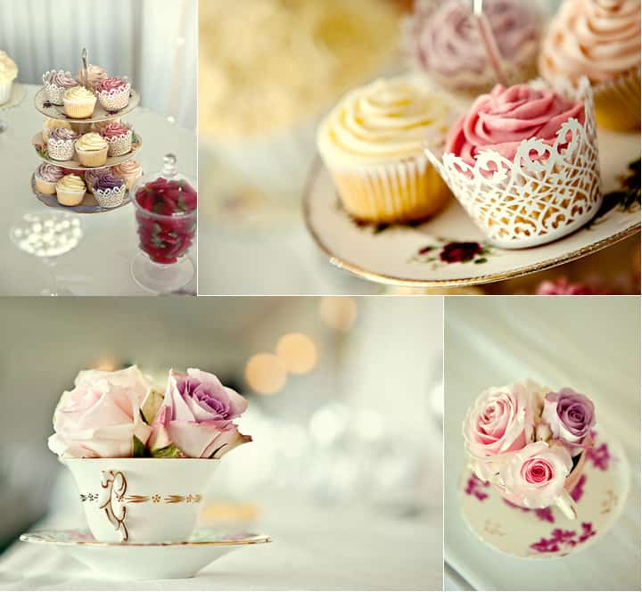Wedding cake with reception details