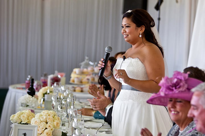 Bride also gave speech