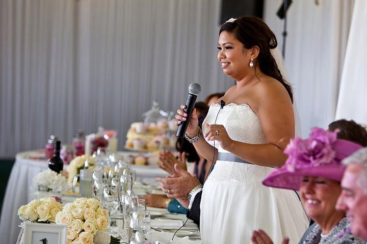 Bride also gave speech