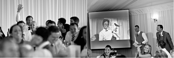 Guests reactions at wedding speeches