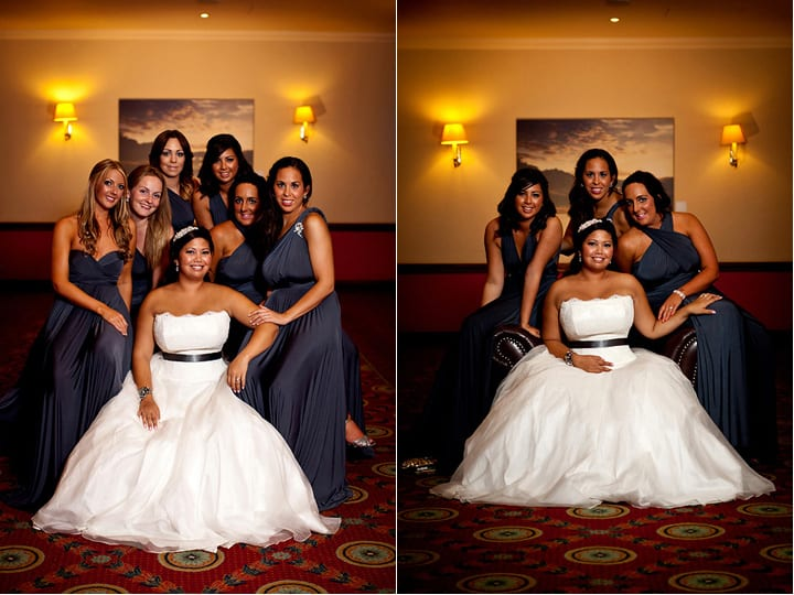 group with the bridesmaids
