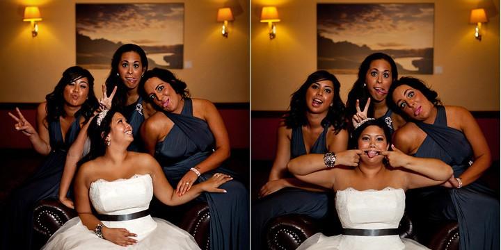Fun shot with bridesmaids