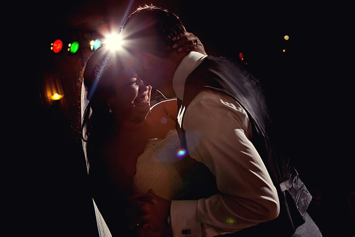 Photograph of wedding 1st dance at Celtic Manor
