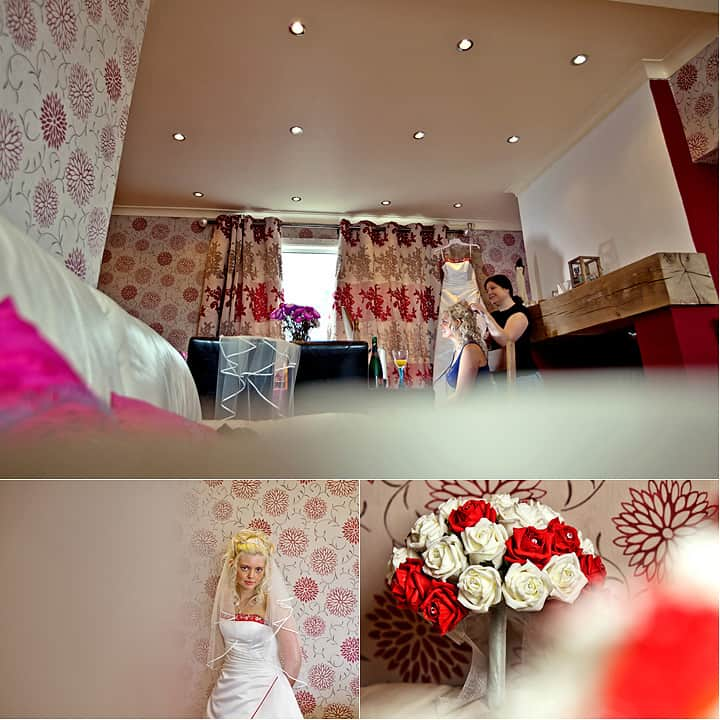 Bridal preparations at home welsh valley