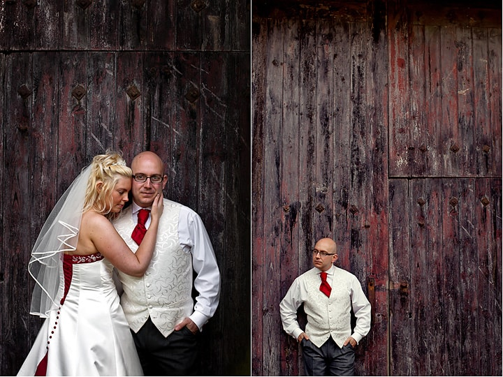 Image of wedding couple at Maes Manor Hotel barn venue.
