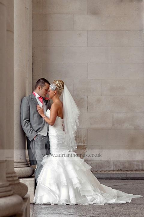 Wedding Photography Cardiff Museum romantic image