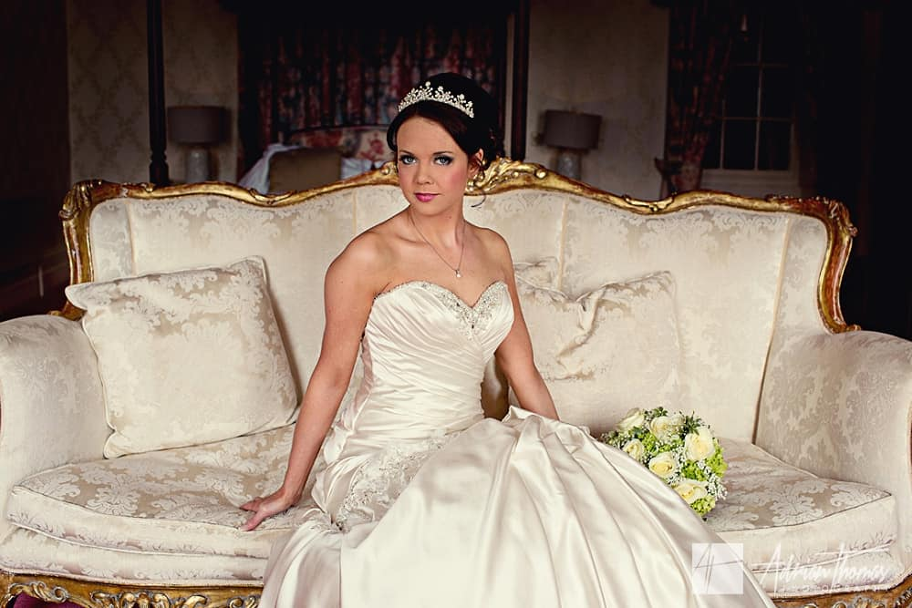 Image of Bride portrait at New House Hotel Wedding Marquee