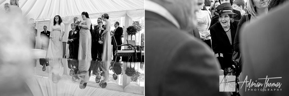 guests mingle at reception