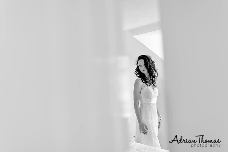 Bride getting ready for her wedding at Llanerch Vineyard