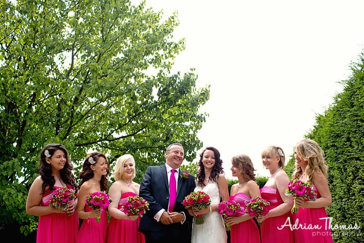 Photograph of Bride and bridesmaids at Dyffryn Gardens