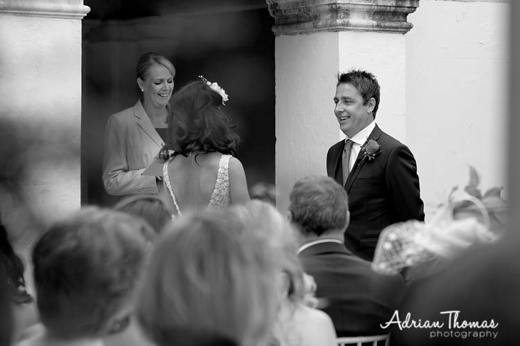 Groom ceremony at Dyffryn Gardens