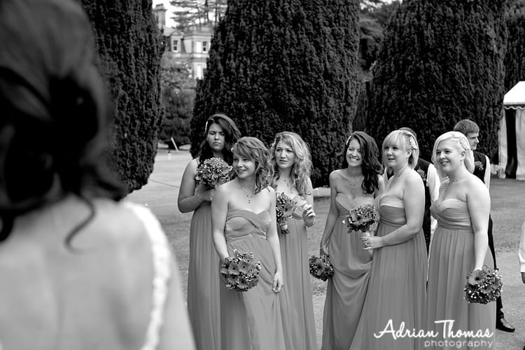 Chilling bridesmaids