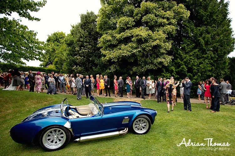 Wedding car in gardens