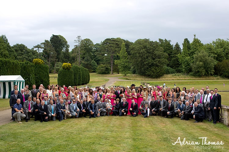 Photograph of all wedding guests
