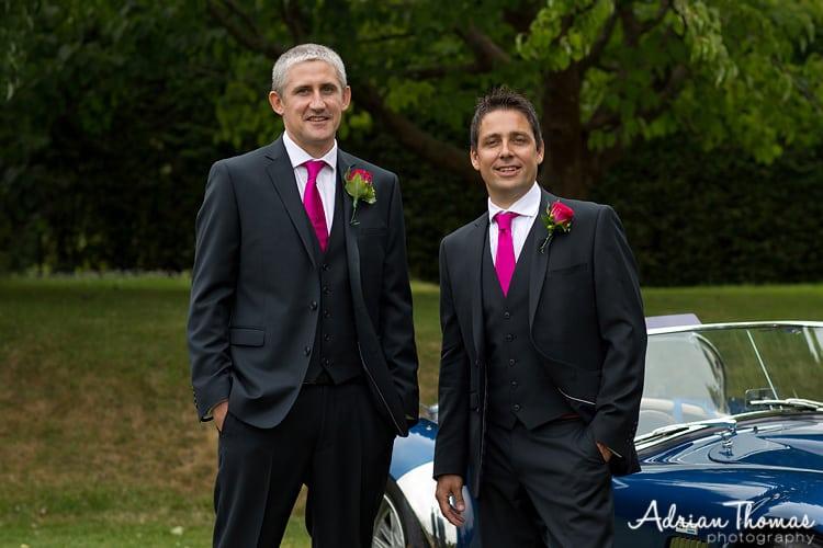 Bestman and groom