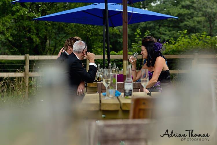 Guests enjoying drinks reception at Llanerch