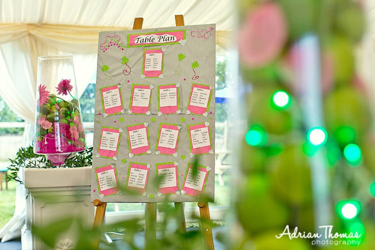 Llanerch marquee table plan