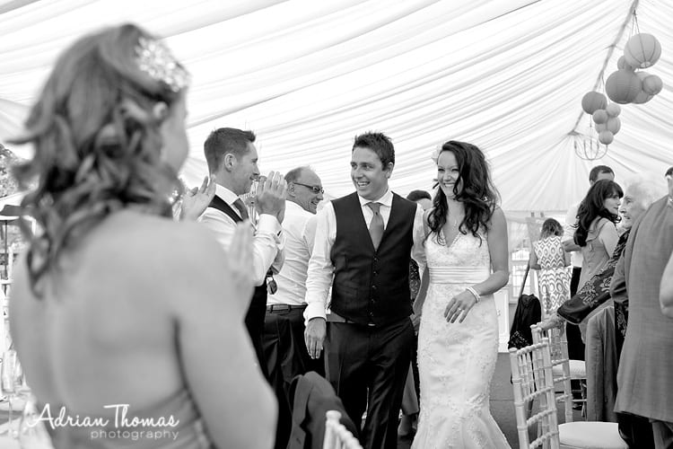 bride and groom arrival