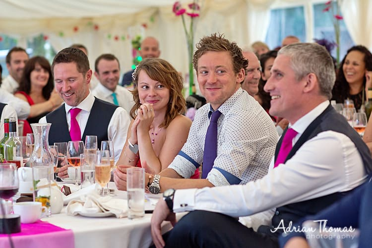 happy guest at speeches