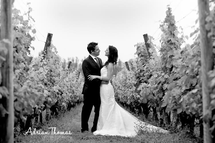 Couple shoot vineyard