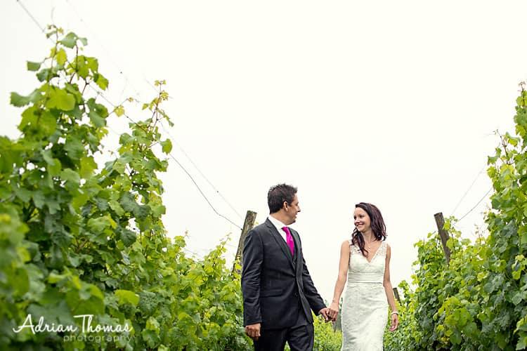 romantic walk at Llanerch Vineyard