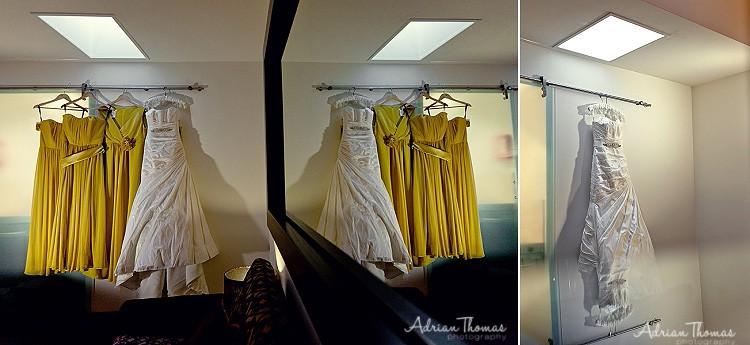 Bridal preparations wedding dress