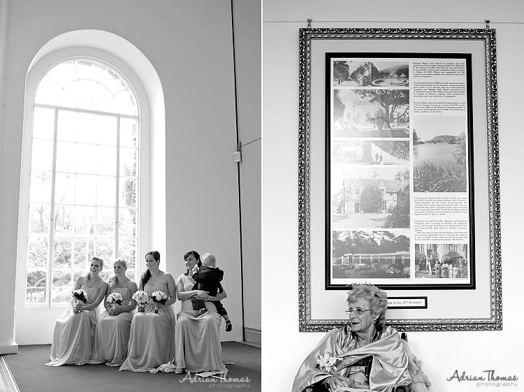 Bridal party during service