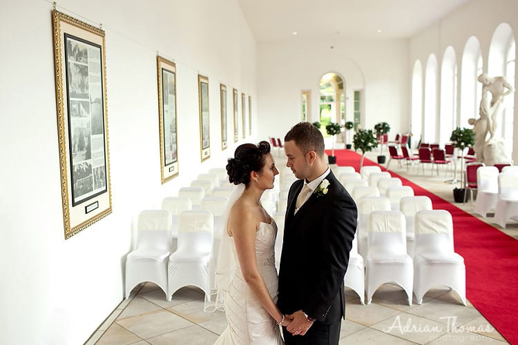 Wedding Photograph inside Margam Orangery wedding venue