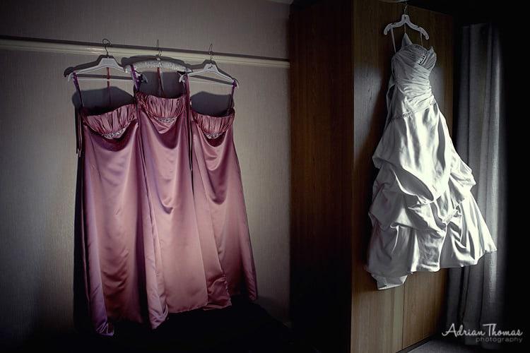 Bridesmaids and brides dresses