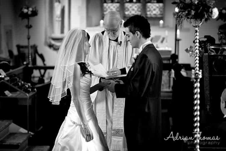 St Edeyrns Church wedding service photograph