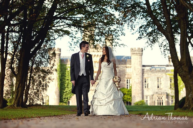 Photograph of wedding at Hensol Castle in the grounds of The Vale Hotel and Resort