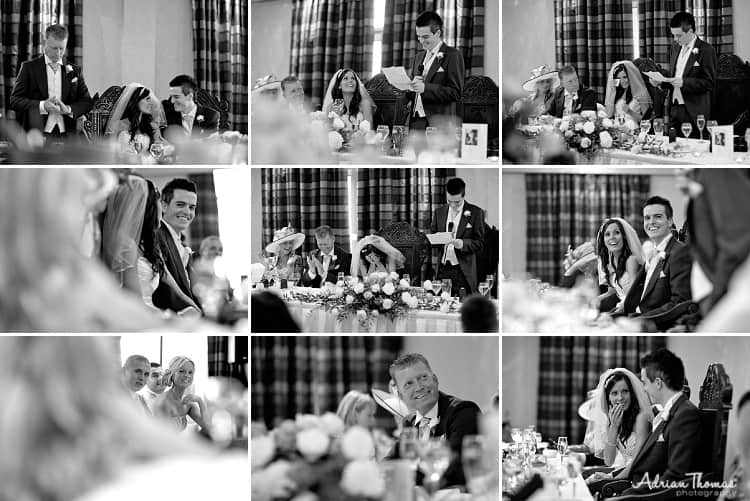 Speeches during wedding at The Vale Hotel