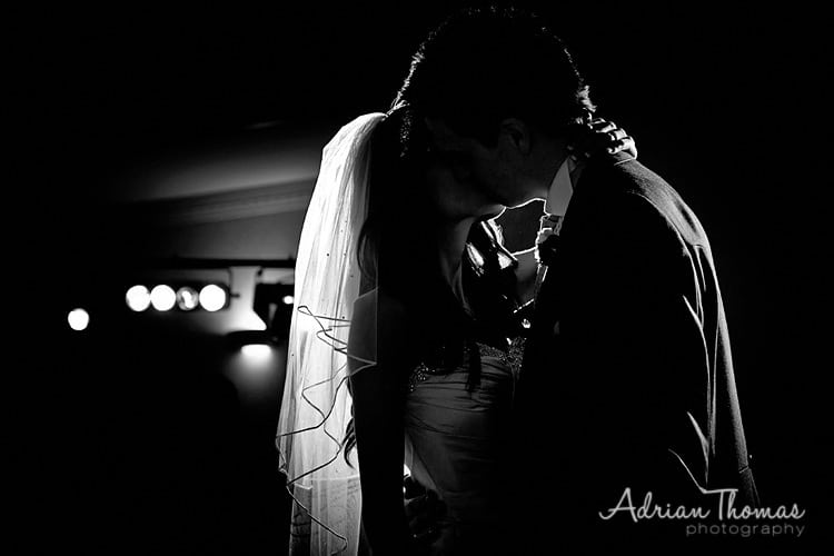 Image of bride and groom 1st dance at The Vale Hotel