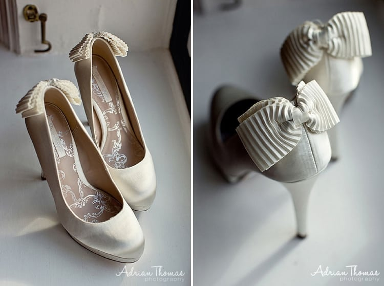 Bride shoes at preperations